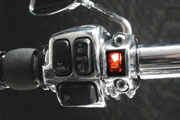 Grip Switch Amber L.E.D. Lighted Rocker Switch
