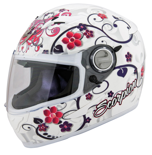 Scorpion EXO-500 Dahlia II White Full Face Helmet