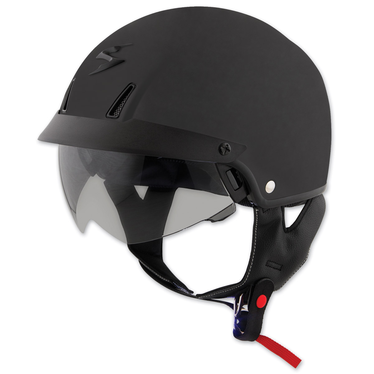 scorpion exo c110 matte black half helmet c11 0106. Black Bedroom Furniture Sets. Home Design Ideas