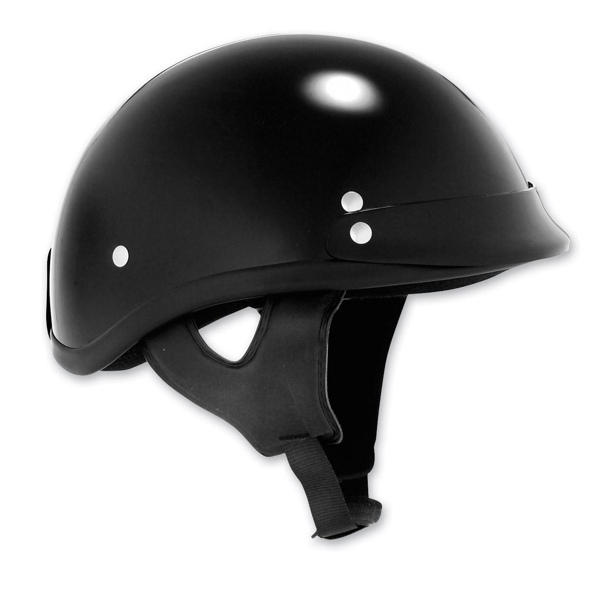 Skid Lid Traditional Black Half Helmet