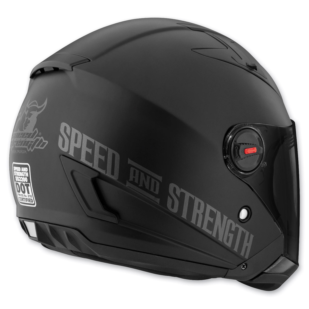 Speed and Strength SS2200 Spin Doctor Matte Black Modular Helmet
