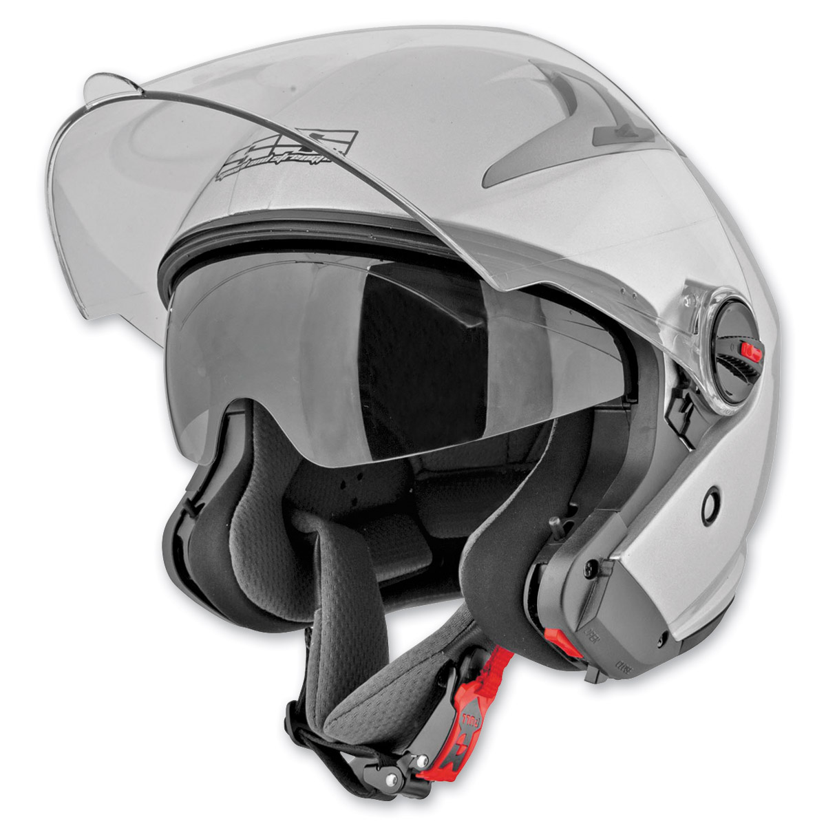 Speed and Strength SS2200 Solid Speed Silver Modular Helmet