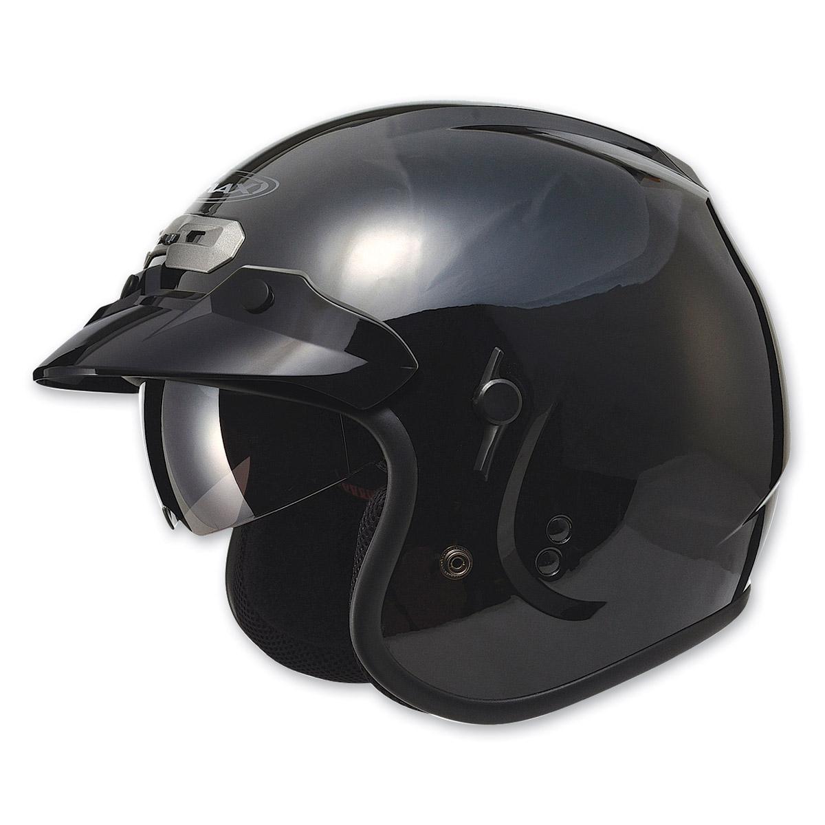 GMAX GM32 Open Face Black Helmet