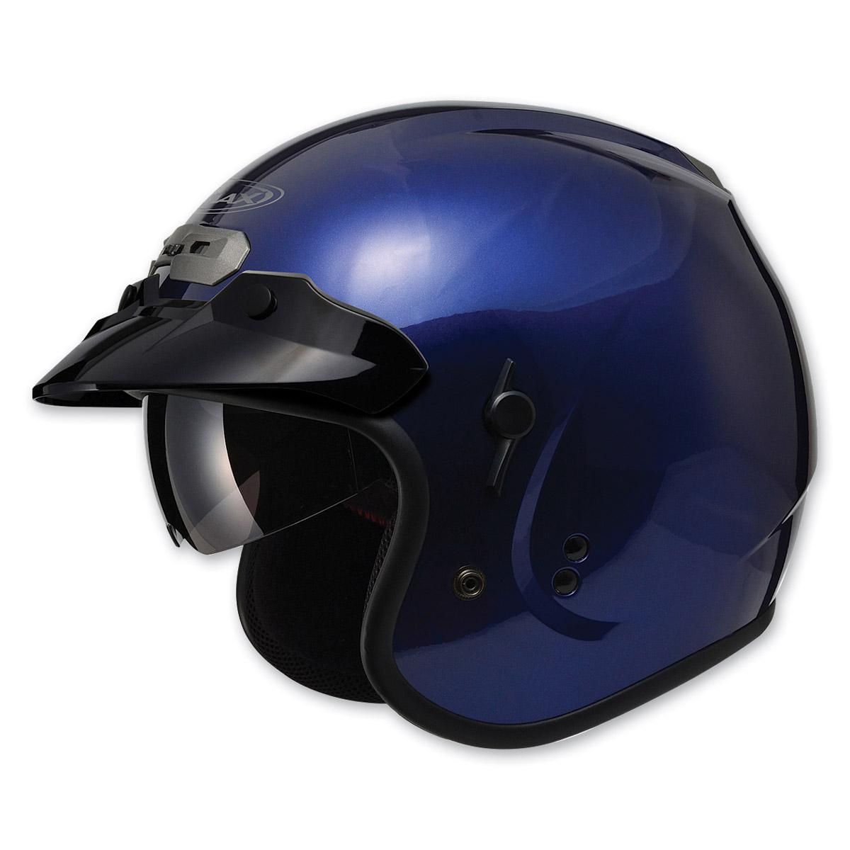 GMAX GM32 Open Face Blue Helmet