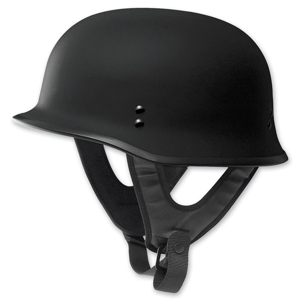 FLY Racing Street 9MM Flat Black Half Helmet