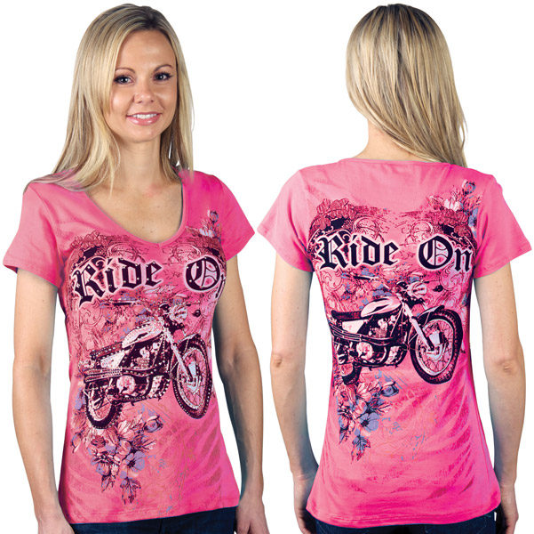 Liberty Wear Ride On Embellished Pink Top