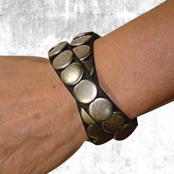 That's A Wrap Double Wrap Leather Cuff