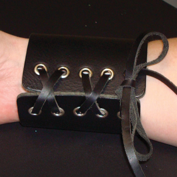 That's A Wrap Laced Up Rocker Leather Cuff