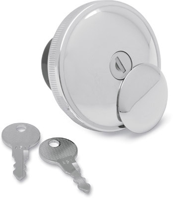 J&P Cycles® Chrome Vented Screw-In Locking Gas Cap