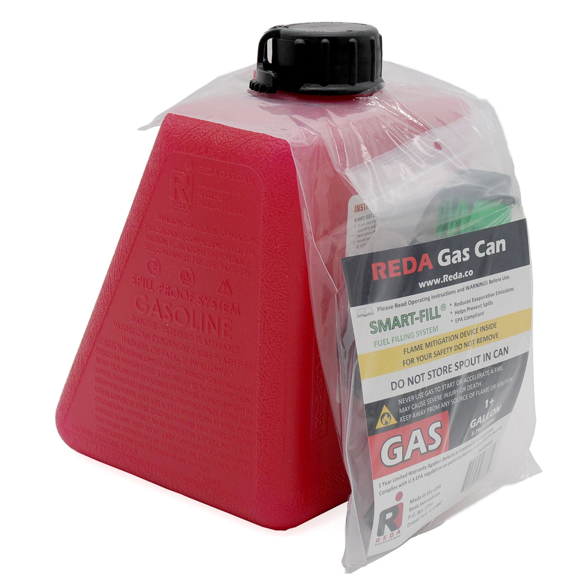 Reda Innovations 1 Gallon Saddlebag Gas Can