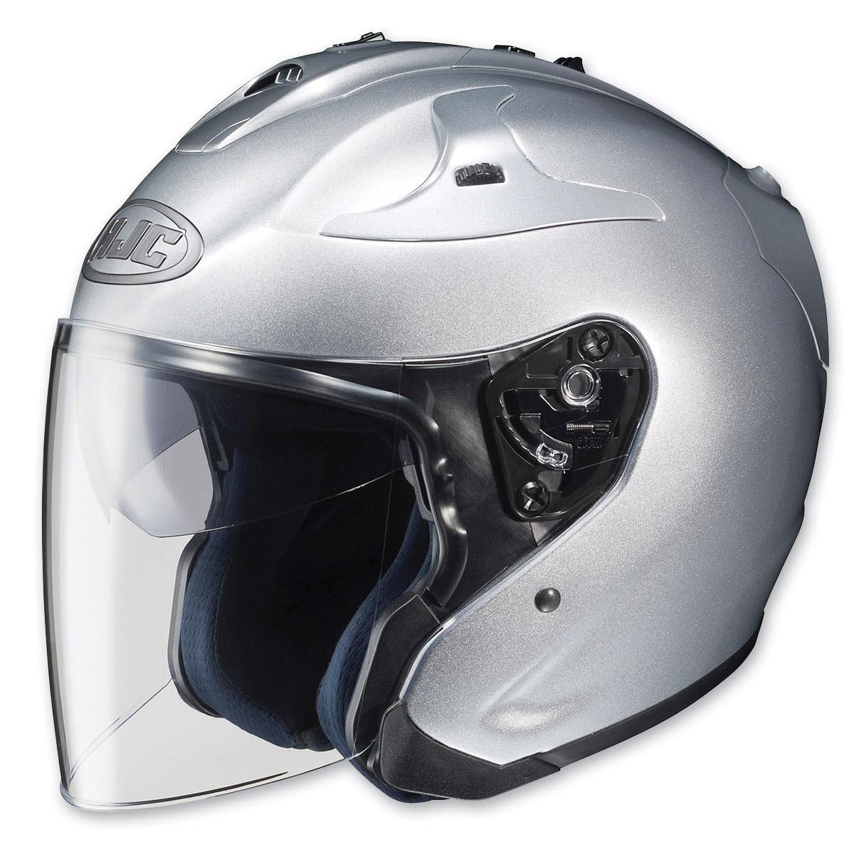 hjc fg jet silver open face helmet 721 984 j p cycles. Black Bedroom Furniture Sets. Home Design Ideas