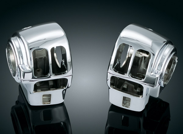 Kuryakyn Chrome Switch Housings for Models without Cruise