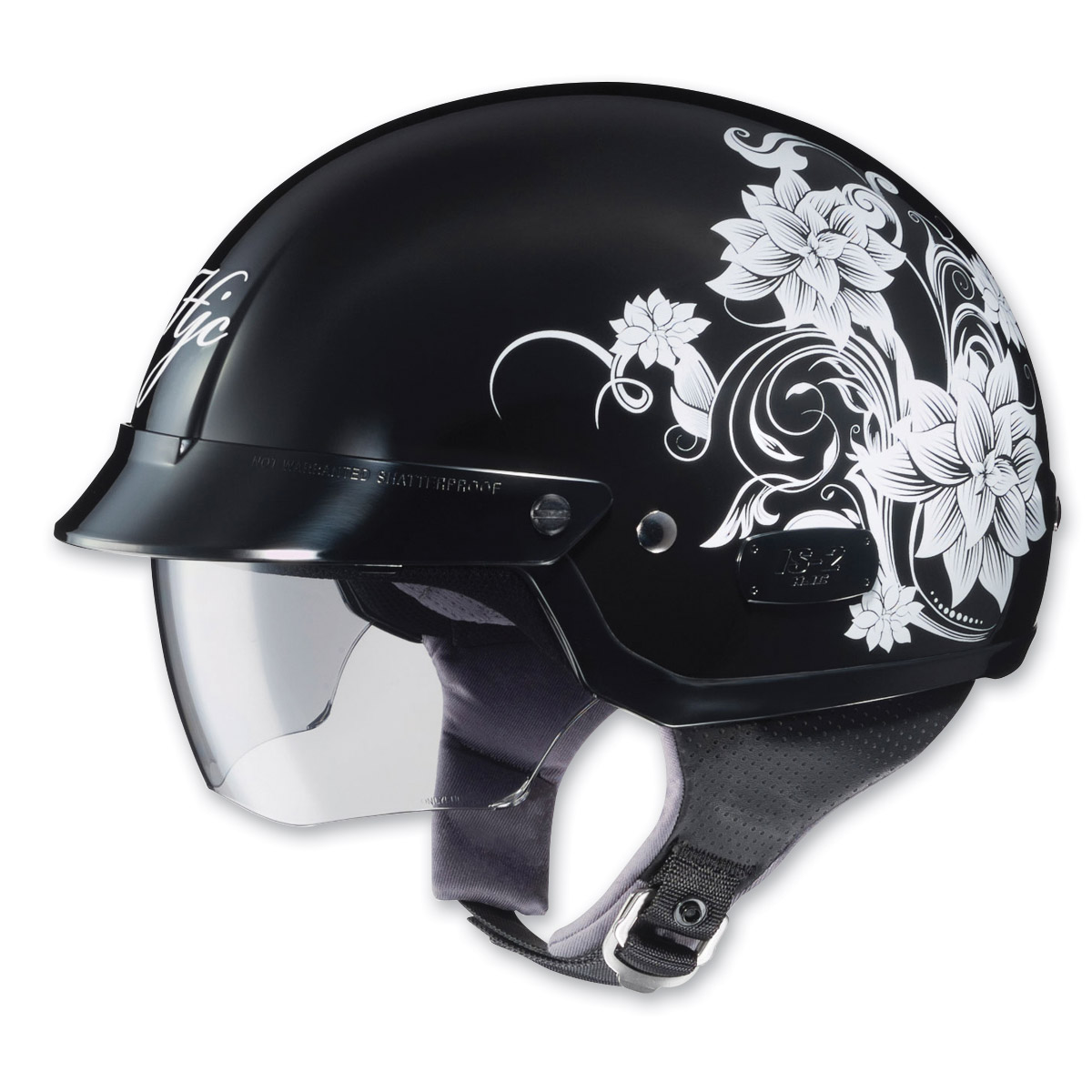 HJC Blossom IS-2, MC-5 Black/Silver Half Helmet