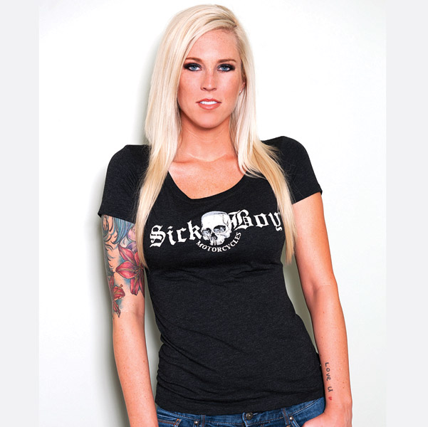 Sick Boy Motorcycles Ladies T-shirt