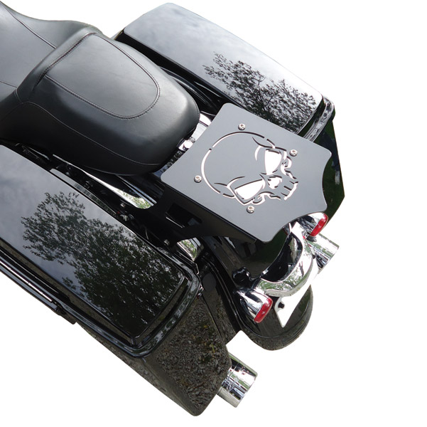 BDD Custom Skull Luggage Rack for Touring Models