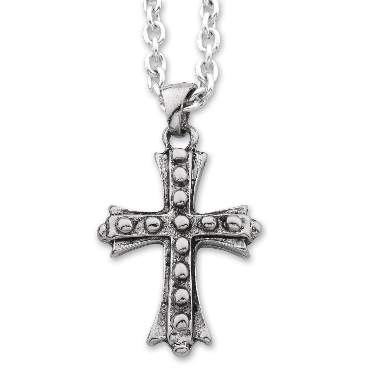 AMiGAZ 15-Bolt Cross Necklace on 30