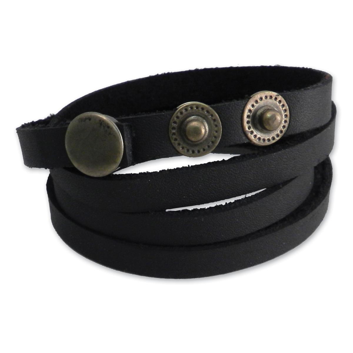 AMiGAZ Black Recon Thin Multi Wrap Bracelet