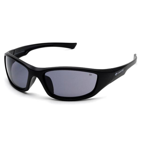 Chap'el C-125 Black Frame/Smoke Lens Safety Glasses