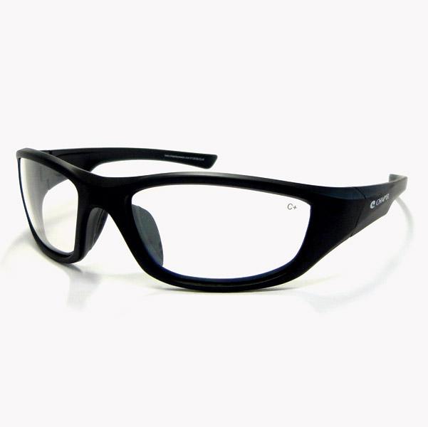 Chap'el C-125 Black Frame/Clear Mirror Lens Safety Glasses