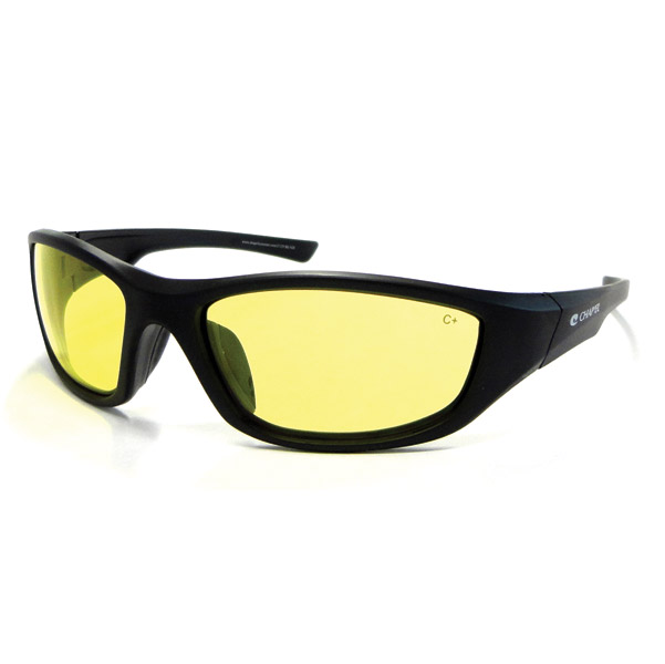Chap'el C-125 Black Frame/Night Driving Lens Safety Glasses