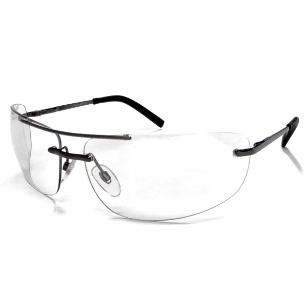 Chap'el C-167 Gunmetal Frame/Clear Mirror Lens Safety Glasses