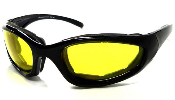 Chap'el C-22 Black Frame/NightDriving Lens Padded Sunglasses
