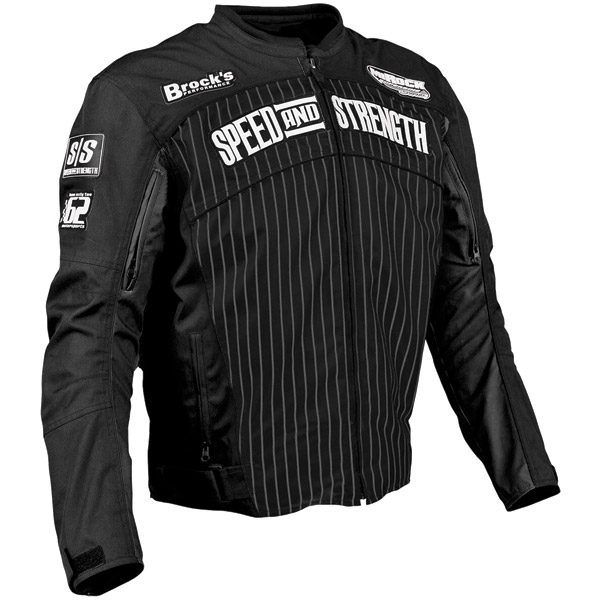 Speed and Strength 62 Motorsports Textile Black Jacket