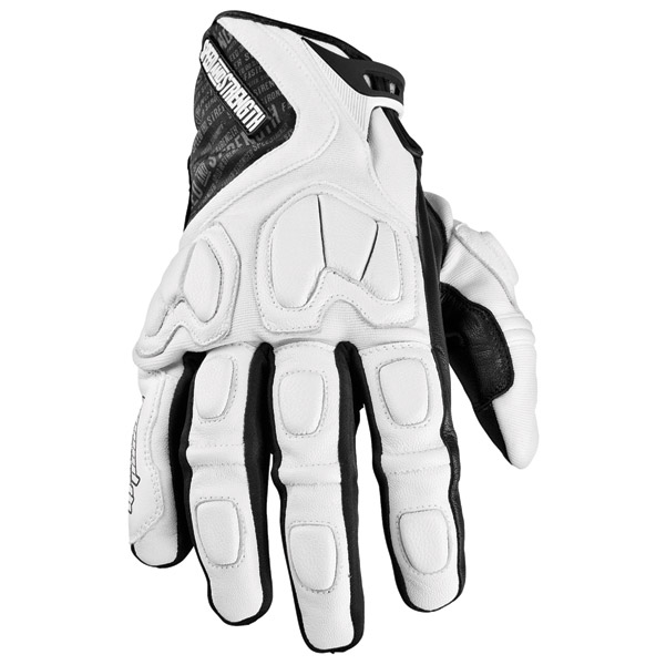 Speed and Strength Tough As Nails White Leather-Textile Glove