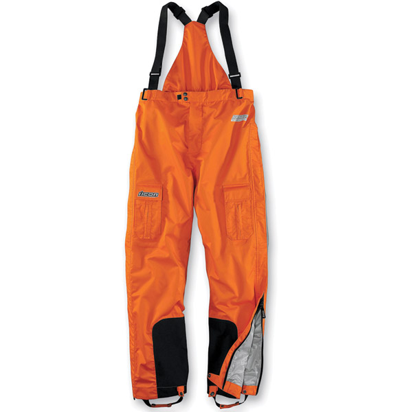 ICON Men's PDX Waterproof Orange Bibs