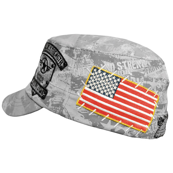 Speed and Strength Men′s Call to Arms Gray Flexfit Military Style Cap