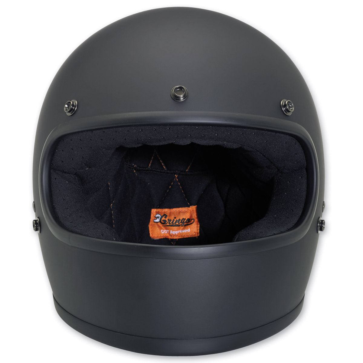 Biltwell Inc. Gringo Flat Black Full Face Helmet