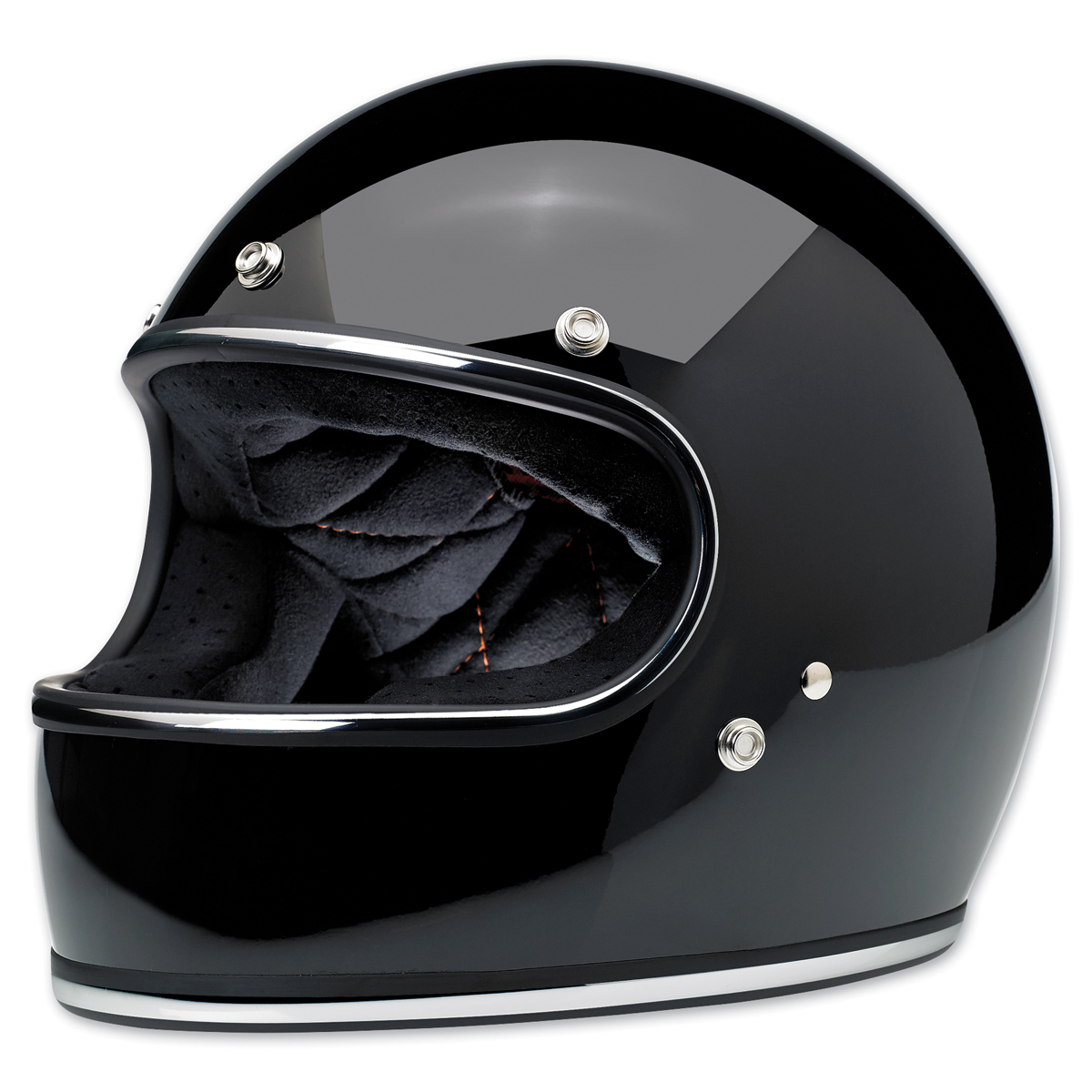 Biltwell Inc. Gringo Gloss Black Full Face Helmet