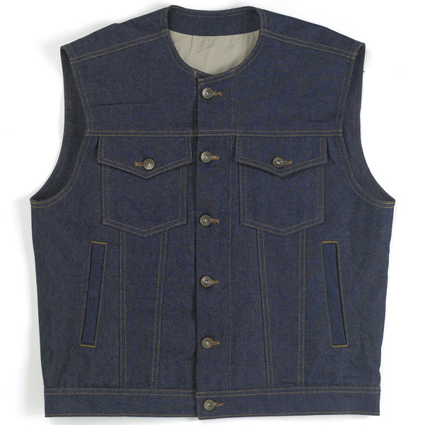 Biltwell Inc. Men's Denim Prime Cut Indigo Vest