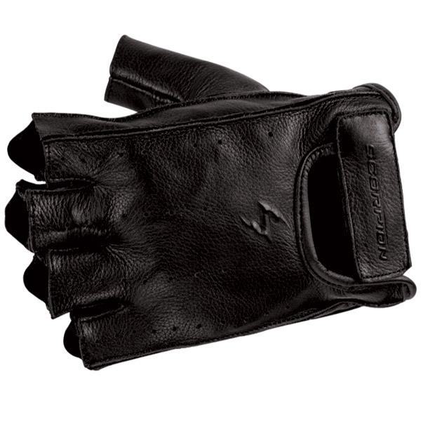 Scorpion EXO Men′s Half-Cut Black Leather Gloves
