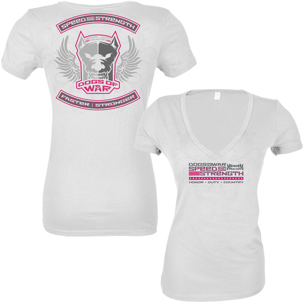 Speed and Strength Dogs Of War Women′s T-shirt
