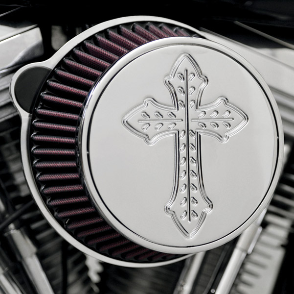 LA Choppers Chrome Spanish Cross Air Cleaner Assembly
