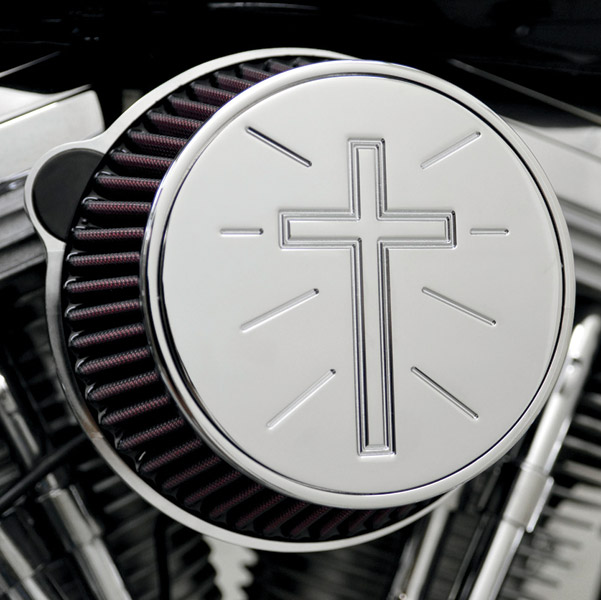 LA Choppers Chrome Standard Cross Air Cleaner Assembly