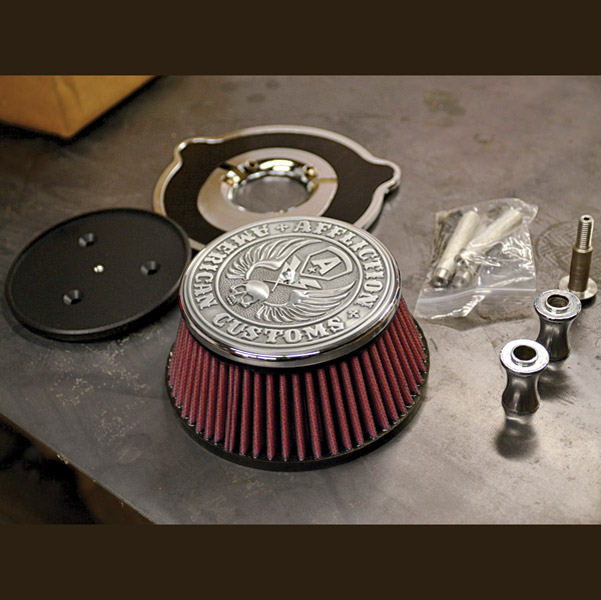LA Choppers Chrome Affliction Air Cleaner