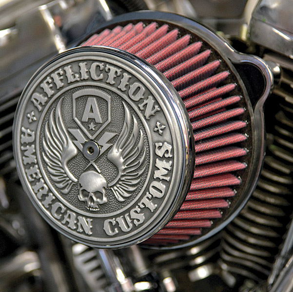 LA Choppers Black Affliction Air Cleaner