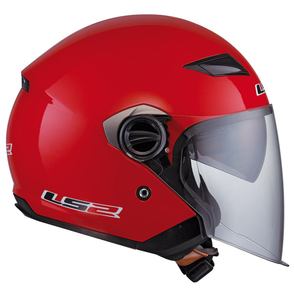 LS2 OF569 Red Open Face Helmet
