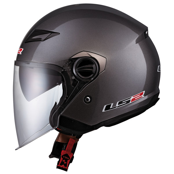 LS2 OF569 Gunmetal Open Face Helmet