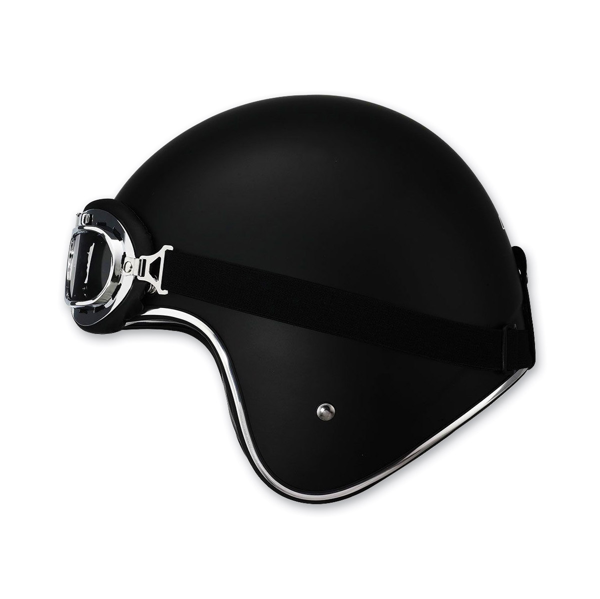 LS2 OF583 Bobber Matte Black Open Face Helmet