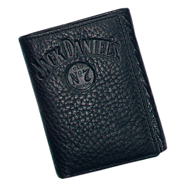 Jack Daniel's Signature Collection Black Trifold Wallet