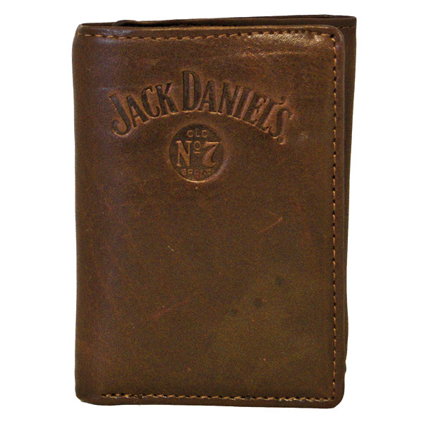 Jack Daniel's Signature Collection Brown Trifold Wallet