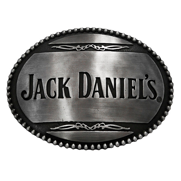 Jack Daniel's Beaded Edge Belt Buckle w/Straight Logo