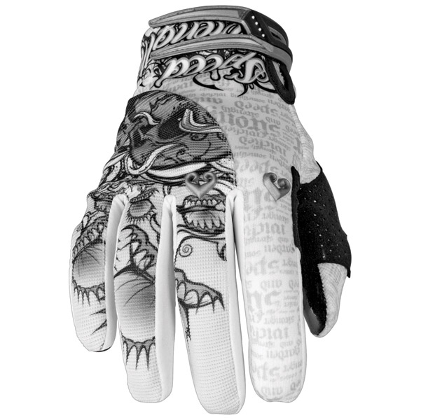 Speed and Strength Wicked Garden White/Silver Mesh/Textile Gloves