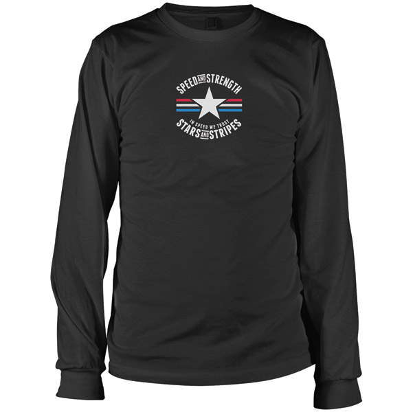 Speed and Strength Stars and Stripes Long Sleeve Mens T-shirt