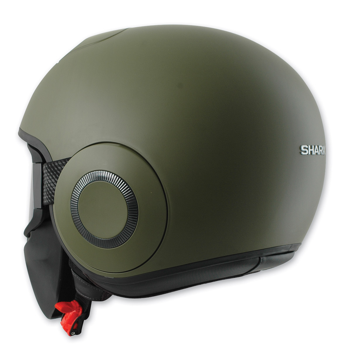 Shark RAW Blank Matte Green Half Helmet