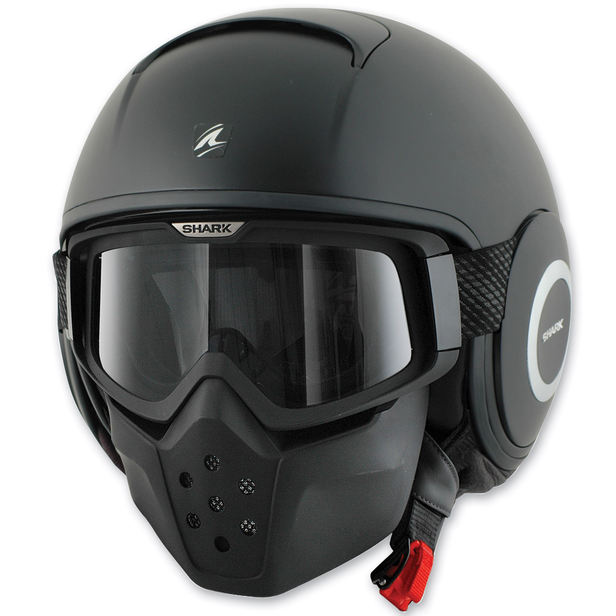 Shark RAW Blank Matte Black Half Helmet