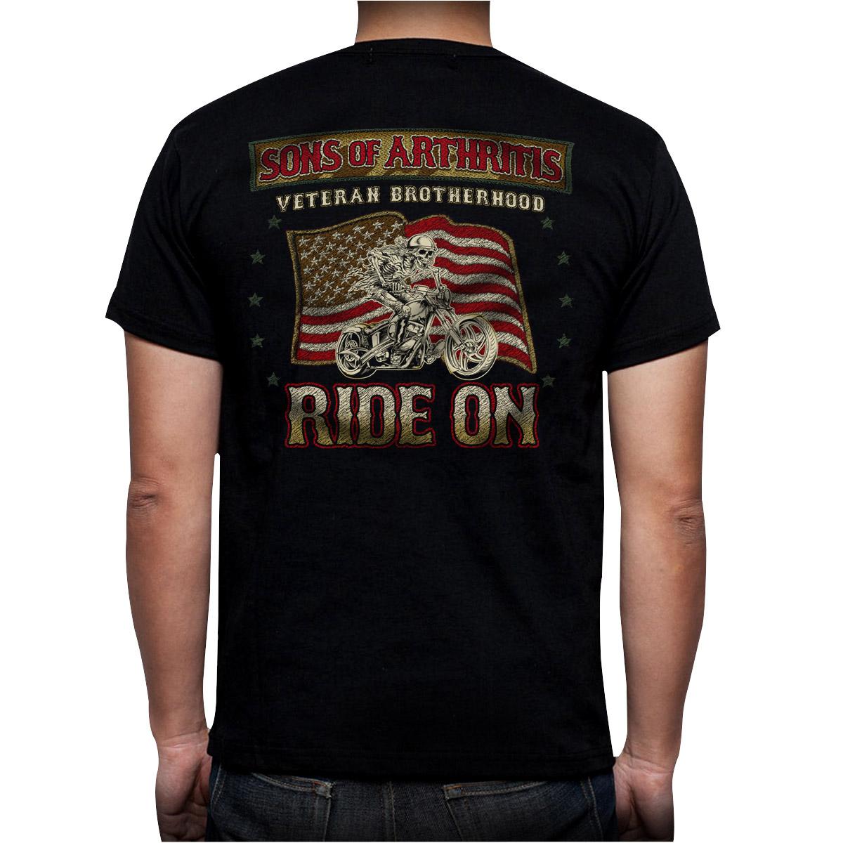 sons of arthritis men 39 s veteran brotherhood black t shirt. Black Bedroom Furniture Sets. Home Design Ideas